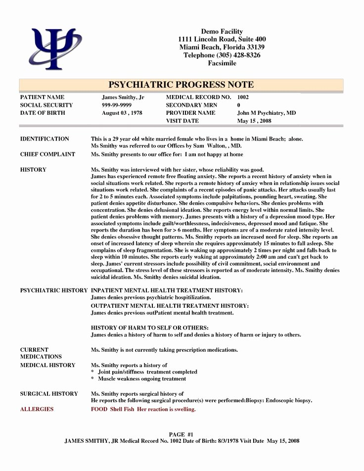 Psychotherapy Progress Note Template Pdf Elegant Psychotherapy Progress Notes Template Google Search