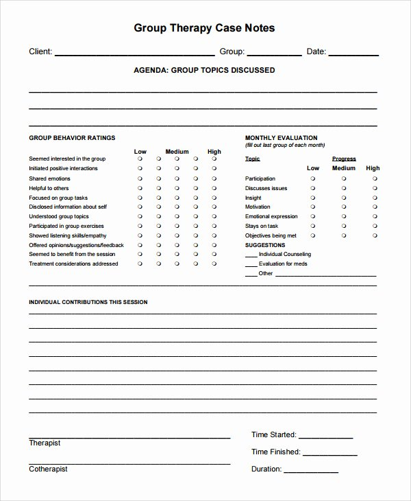 Psychotherapy Progress Note Template Pdf Fresh Psychotherapy Progress Note Template Pdf