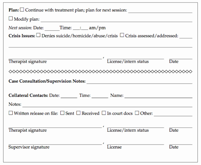 Psychotherapy Progress Notes Template Awesome 28 Of Gillman Hipaa Progress Note Template