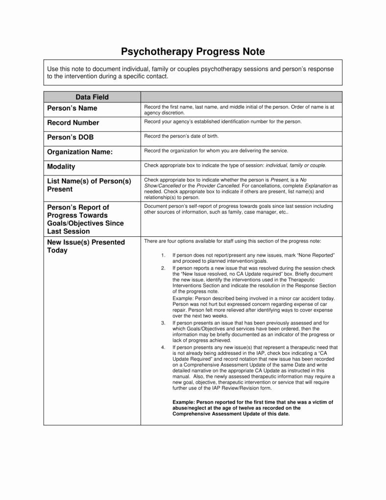 Psychotherapy Progress Notes Template New 8 Psychotherapy Note Templates for Good Record Keeping
