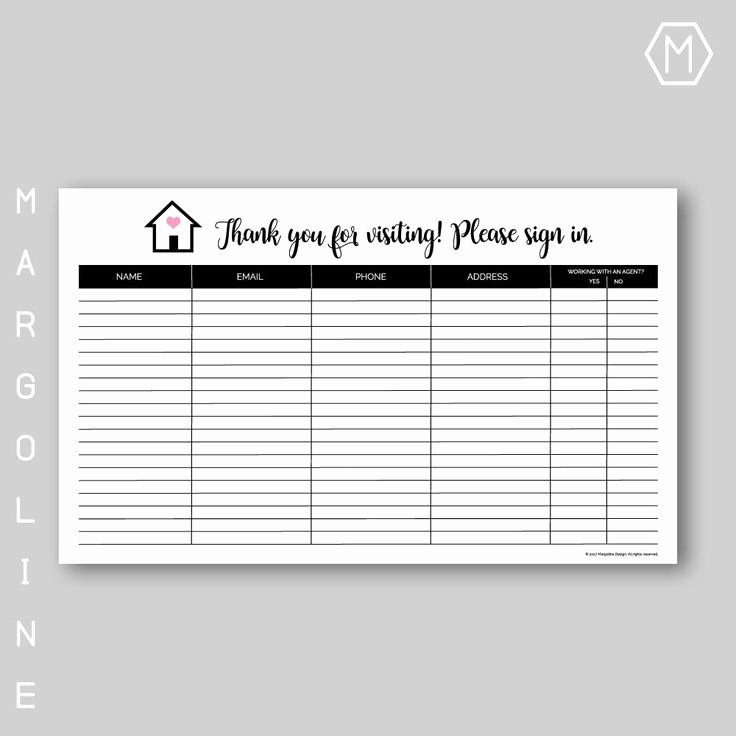 Pto Sign Up Sheet Template Fresh Best 25 Sign In Sheet Ideas On Pinterest