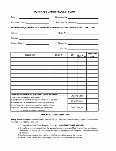 Purchase Request form Template Elegant Purchase order Request form Template Free Download Edit