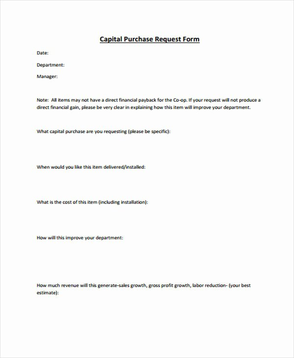 Purchase Request form Template Fresh Request form Template