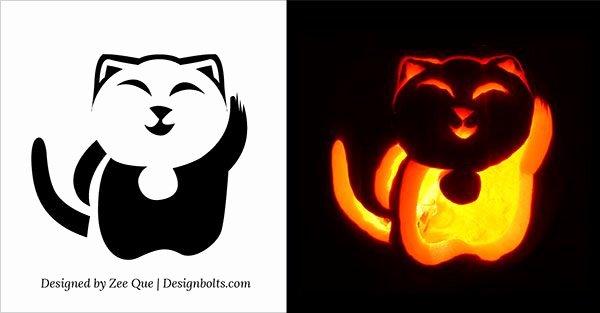 Pusheen Pumpkin Stencil New Cute Cat Pumpkin