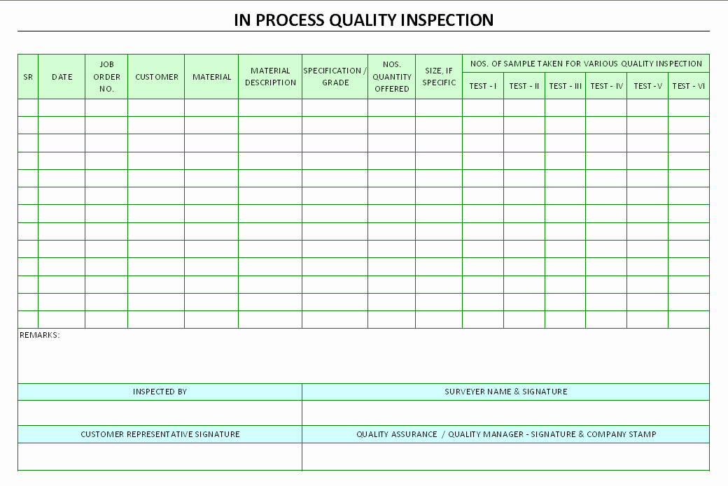 Quality Control Template Excel Best Of 25 Of Manufacturing Process Sheet Template