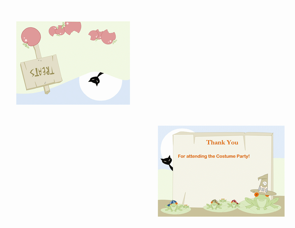 Quarter Fold Card Template Word Awesome Cards Fice