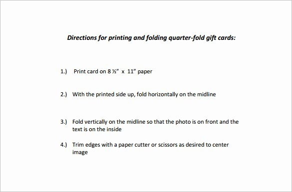 Quarter Fold Card Template Word Beautiful Quarter Fold Card Template – 7 Free Printable Word Pdf