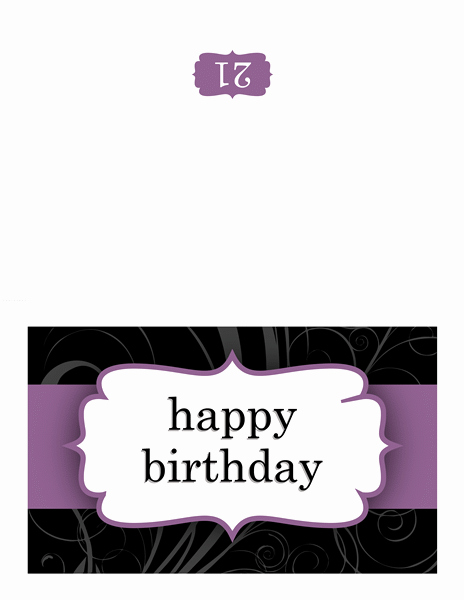 Quarter Fold Card Template Word Inspirational Happy Birthday Card with Balloons and Stripes Quarter