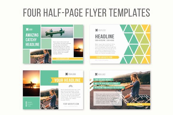 Quarter Page Flyer Template Inspirational Four Half Page Flyer Templates Templates On Creative Market