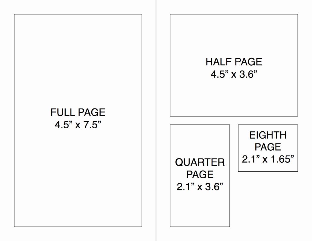 Quarter Page Flyer Template Unique Program Book Camp Shomria Usa