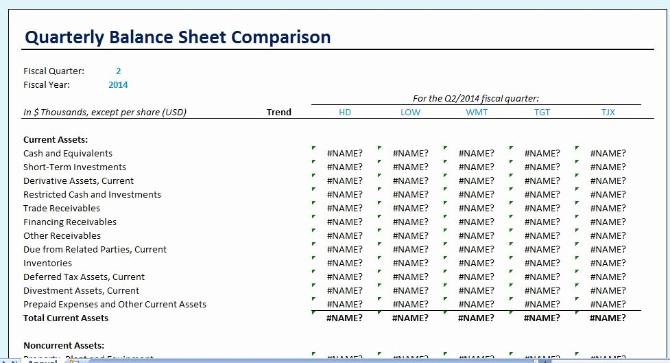 Quarterly Report Example Beautiful Yearly Parison Balance Sheet Template