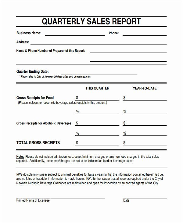 Quarterly Report Example Luxury 36 Sales Report Examples & Samples Pdf Word Pages