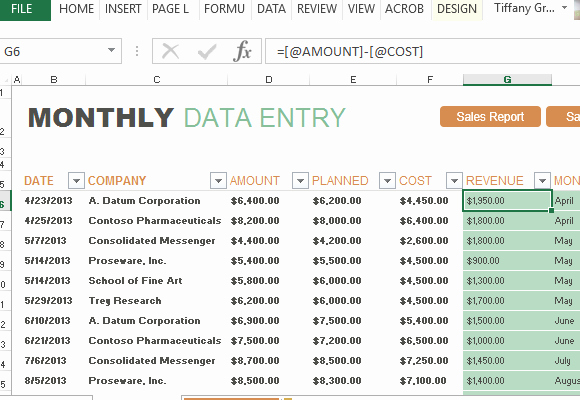 Quarterly Report Template Excel Beautiful Monthly Sales Report and forecast Template for Excel