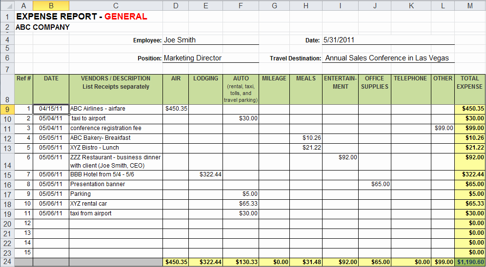 Quarterly Report Template Excel Best Of Excel Template Expenses
