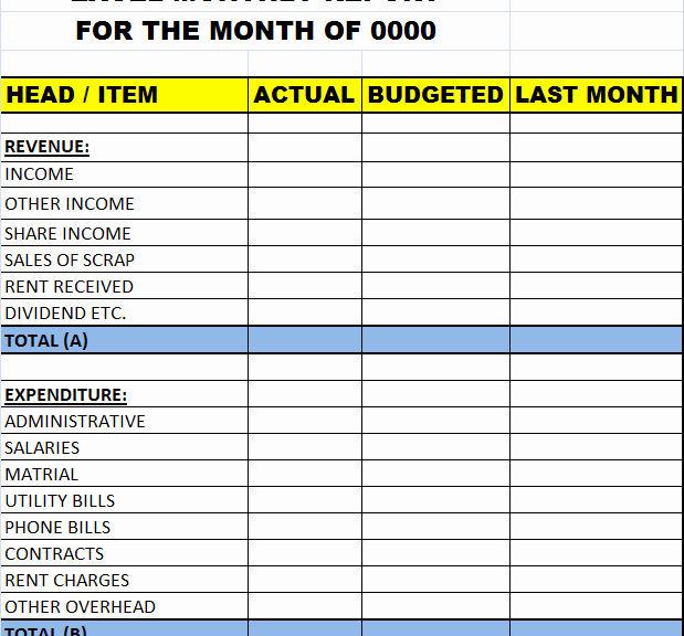 Quarterly Report Template Excel Lovely Excel Monthly Report Template – Excel Word Templates