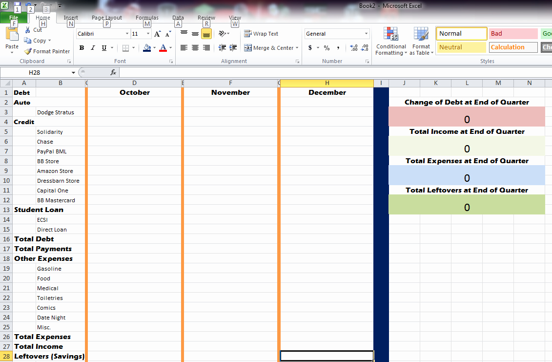 Quarterly Report Template Excel New Expense Sheet In Excel