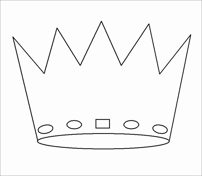 Queen Of Hearts Crown Template Best Of Crown Template Free Templates