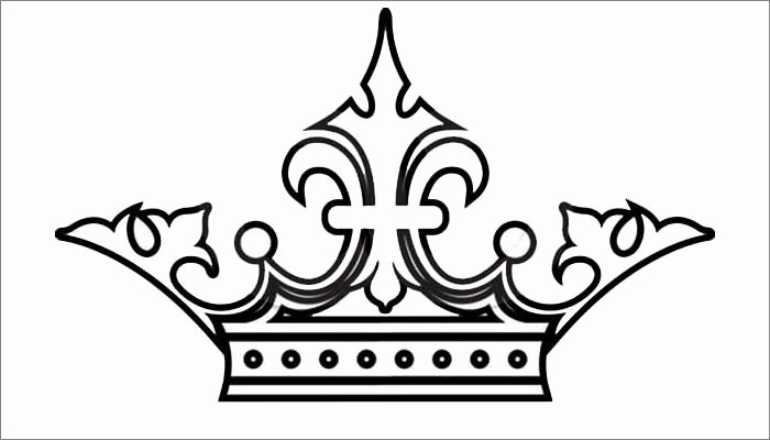 Queen Of Hearts Crown Template Inspirational 30 Best Crown Tattoo with Heart Outline Design Images On