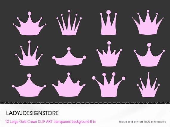 Queen Of Hearts Crown Template New Items Similar to Pink Princess Crown Clip Art 12 Digital