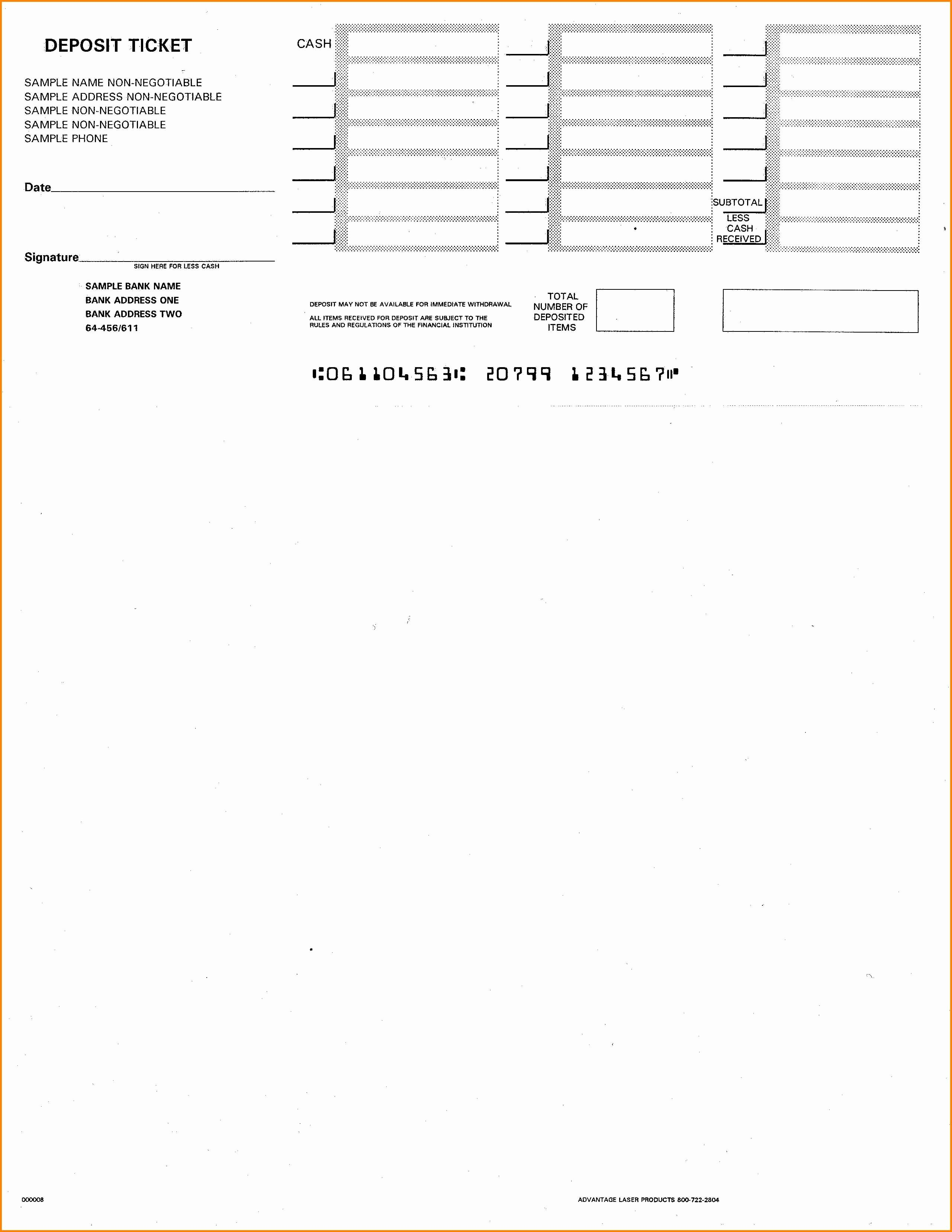 Quickbooks Check Template Word Best Of 10 Printable Deposit Slip Steamtraaleren Borgenes