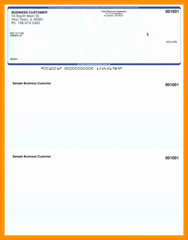 Quickbooks Check Template Word Lovely 15 Quickbook Paystub