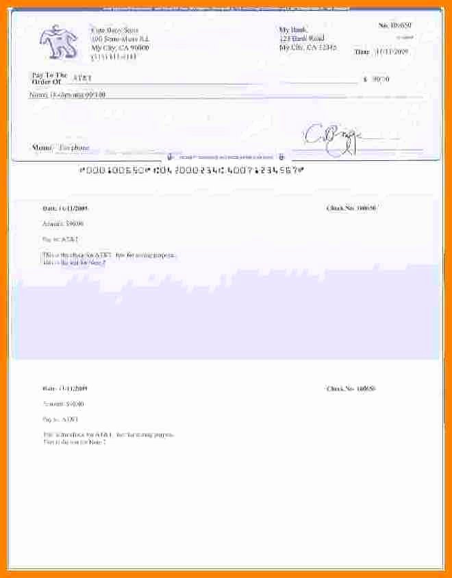 Quickbooks Check Template Word Lovely 8 Free Payroll Checks Templates