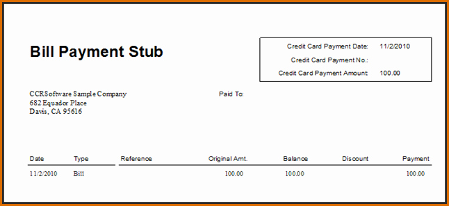 Quickbooks Check Template Word Unique Quickbooks Pay Stub Template – Emmamcintyrephotography