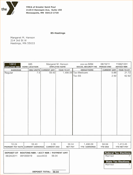 Quickbooks Pay Stub Template Inspirational Pay Stub format Letter Examples Quickbooks Example Sample