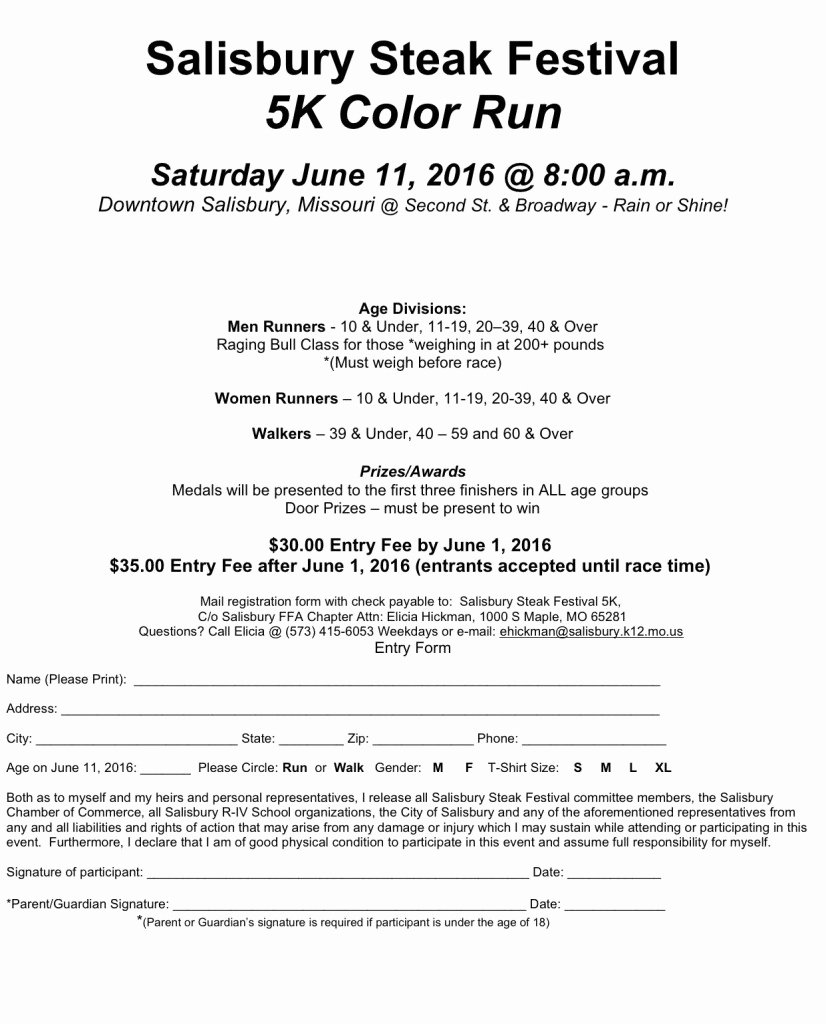 Race Registration form Elegant Run Wild 5k at Watershed Nature Center Big River Running