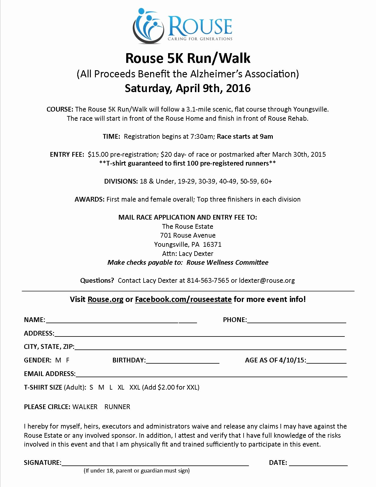 Race Registration form Luxury Erie Runners Clubrouse 5k Run Walk