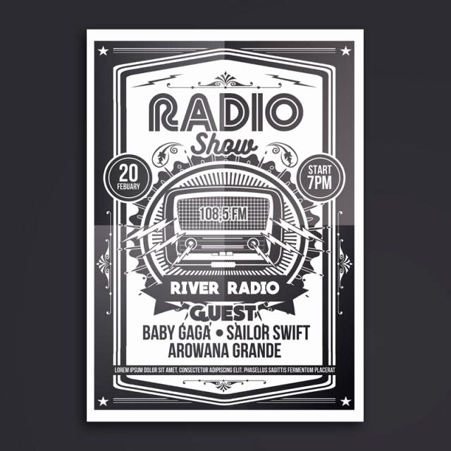 Radio Show format Template Inspirational Radio Show Poster Template for Free Download On Tree