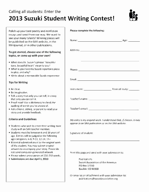 Raffle Entry form Template Awesome Drawing Entry form Template