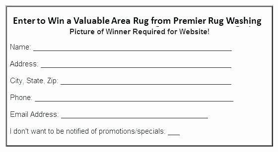 Raffle Entry form Template Beautiful Enter to Win Ballot Template