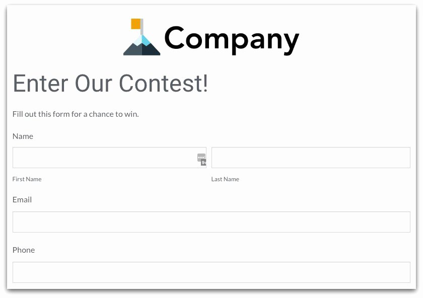 Raffle Entry form Template Elegant Contest form