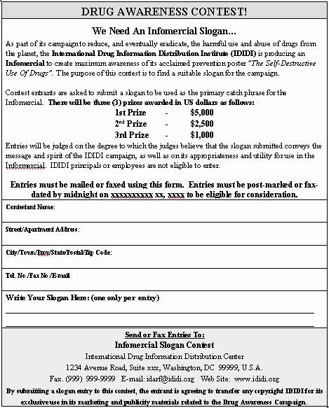 Raffle Entry form Template Inspirational Contest Entry form Sample Contest Entry form Template