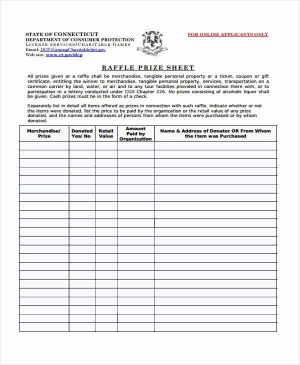 Raffle Entry form Template Luxury 8 Raffle Sheet Templates Free Sample Example format