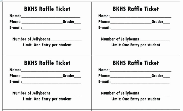 Raffle Entry form Template New Movie Ticket Template for Word