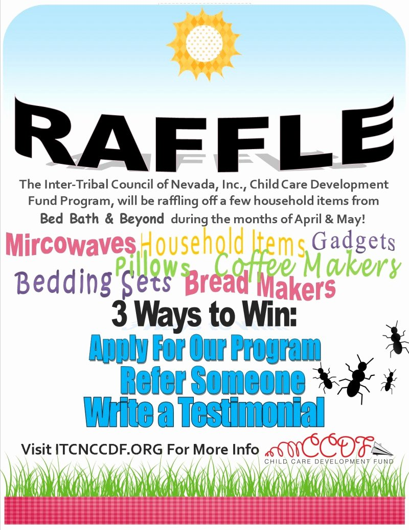 Raffle Flyer Template Best Of Itcn Ccdf Raffle Itcn Child Care Development Fund