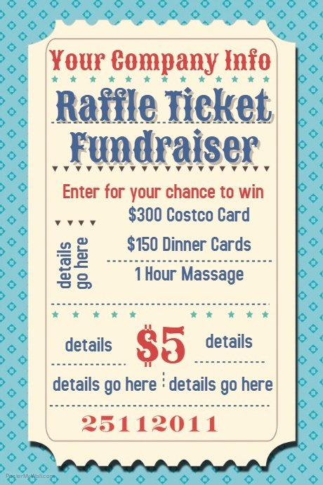 Raffle Flyer Template Free Elegant Raffle Ticket Fundraiser Movie Party Flyer Poster Template