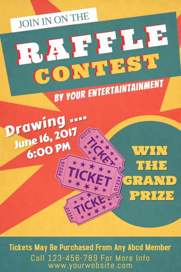 Raffle Flyer Template Free New Raffle Flyer Poster social Media Post Template