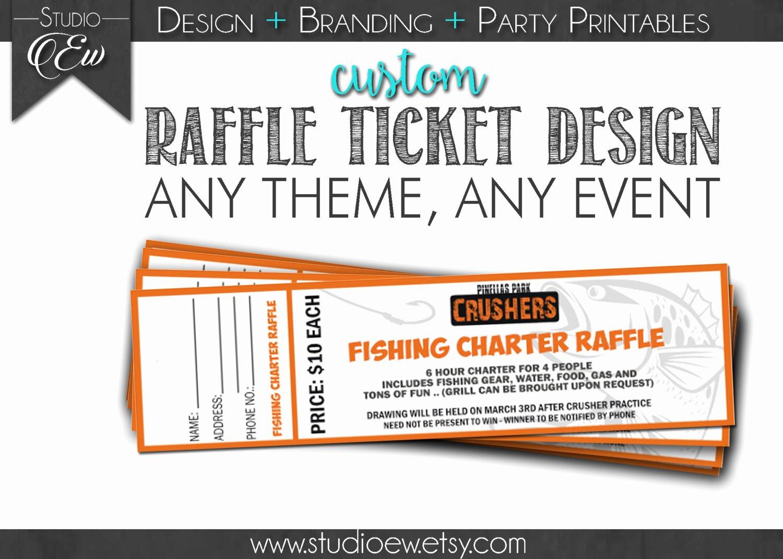 Raffle Flyer Template Lovely Custom Raffle Ticket Design Any event Any theme Fundraiser