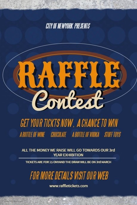 Raffle Flyer Template Lovely Raffle Contest Poster Template