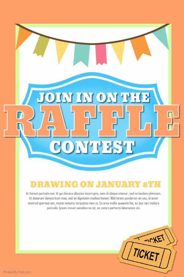 Raffle Flyer Template Lovely Raffle Poster Template Invitation Template