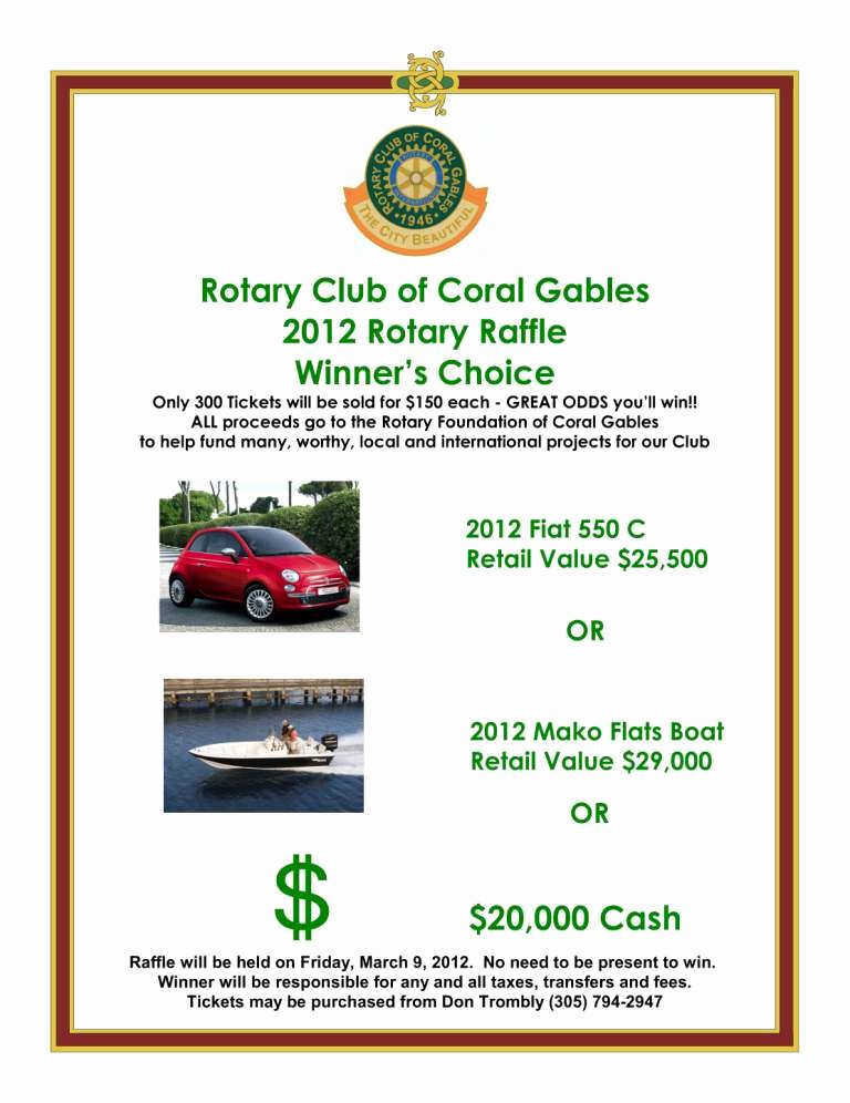 Raffle Flyer Template Luxury Coral Gables Rotarygram Vol 66 No 28 Notes From the Podium