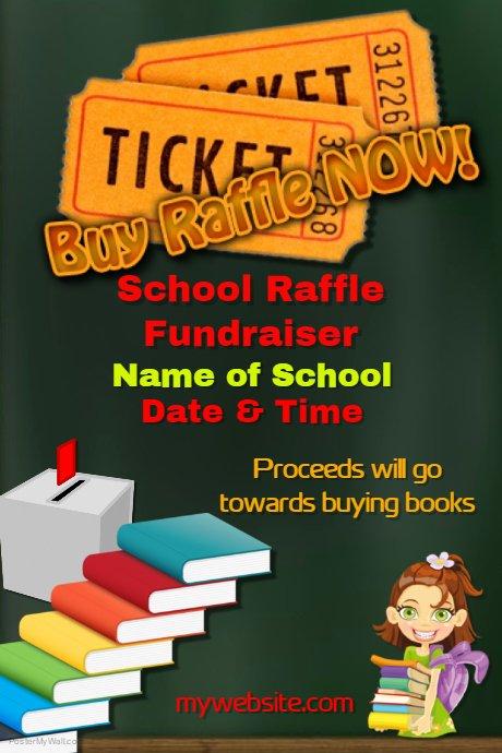 Raffle Flyer Template Luxury School Raffle Fundraiser Template