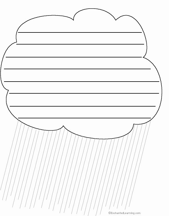 Raindrop Writing Template Inspirational Shape Poem Spring Art Show