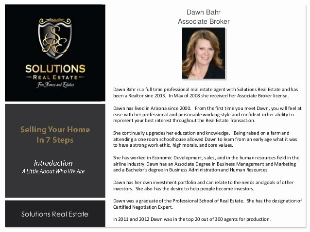 Real Estate Agent Introduction Letter Best Of Listing Presentation Dawn Bahr