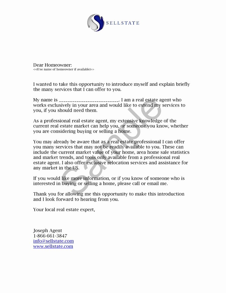 Real Estate Agent Introduction Letter Best Of Real Estate Letters Of Introduction Introduction Letter