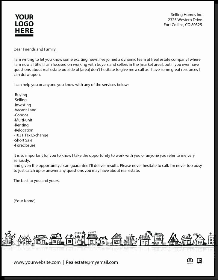 Real Estate Agent Introduction Letter Lovely New Agent Letter Real Estate