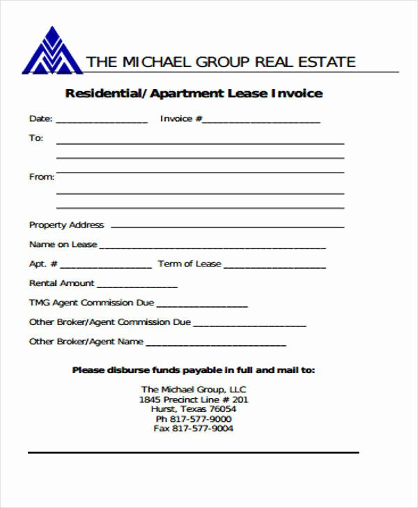 Real Estate Commission Invoice Luxury 10 Real Estate Invoice Templates – Pdf Word Excel